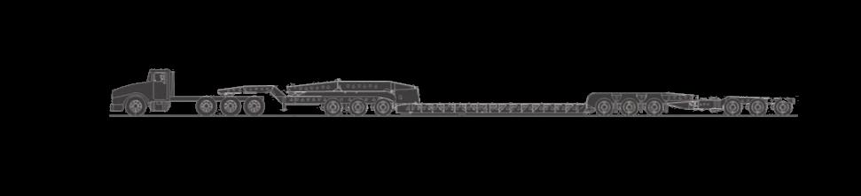 85 Ton Perimeter Frame, 13 Axle Lowboy